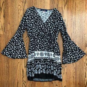 Blue Rain LS Dress